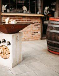 F4 Grill Sandstein Ambiente Wein